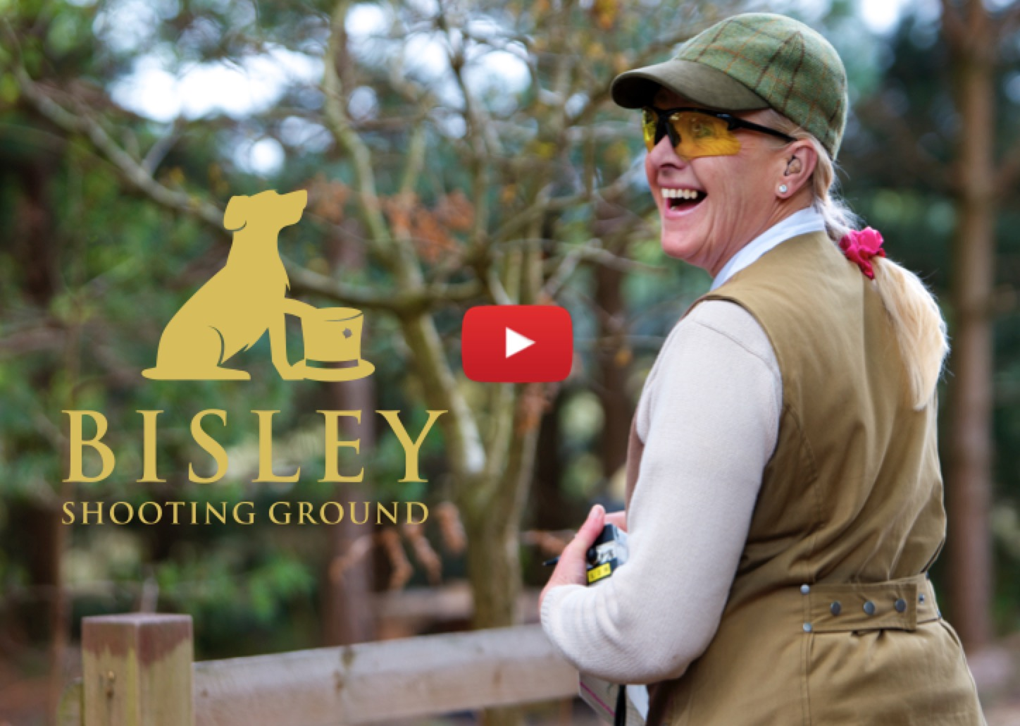Ladies clay shooting at Bisley