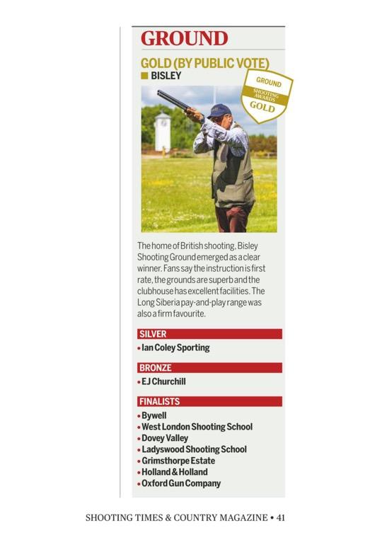 Shooting Awards 2020 Winner - Bisley ShootingGround